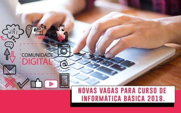 Inscrições para curso gratuito de informática iniciam nesta 2ª feira