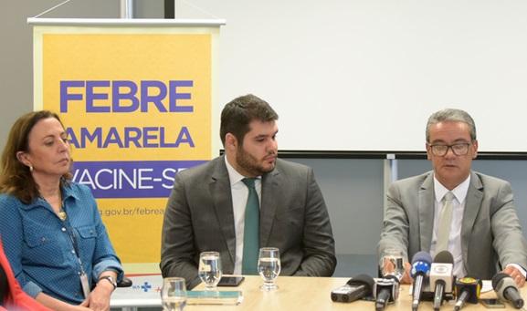Governo estadual faz coletiva para atualizar número de casos de febre amarela