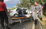 Fugindo de assalto, motorista provoca grave acidente na orla da Lagoa Central