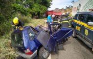 Homem morre em acidente entre caminhão, carro e moto em Santa Luzia