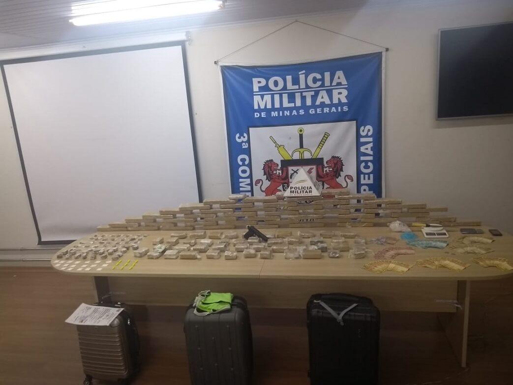 Operação Guardião do Leste apreendeu mais de 90 quilos de drogas em Lagoa Santa