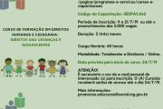 Governo estadual abre inscrições para curso sobre direitos das crianças e adolescentes