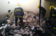 Incêndio em lote vago atinge galpão de fábrica no bairro Vila Maria, em Lagoa Santa