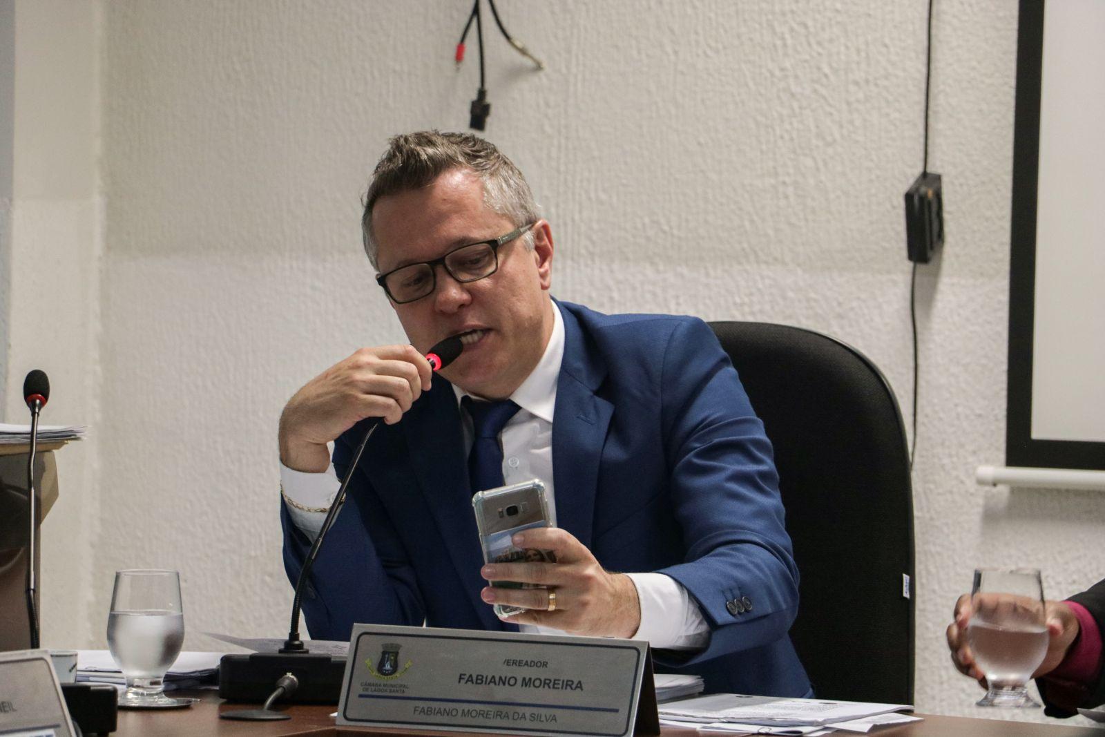 vereador Fabiano Moreira reajuste passagens Lagoa Santa