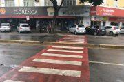 Obstáculo na pista impede passagem de cadeirantes no Santos Dumont