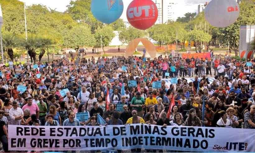 Greve professores Minas Gerais