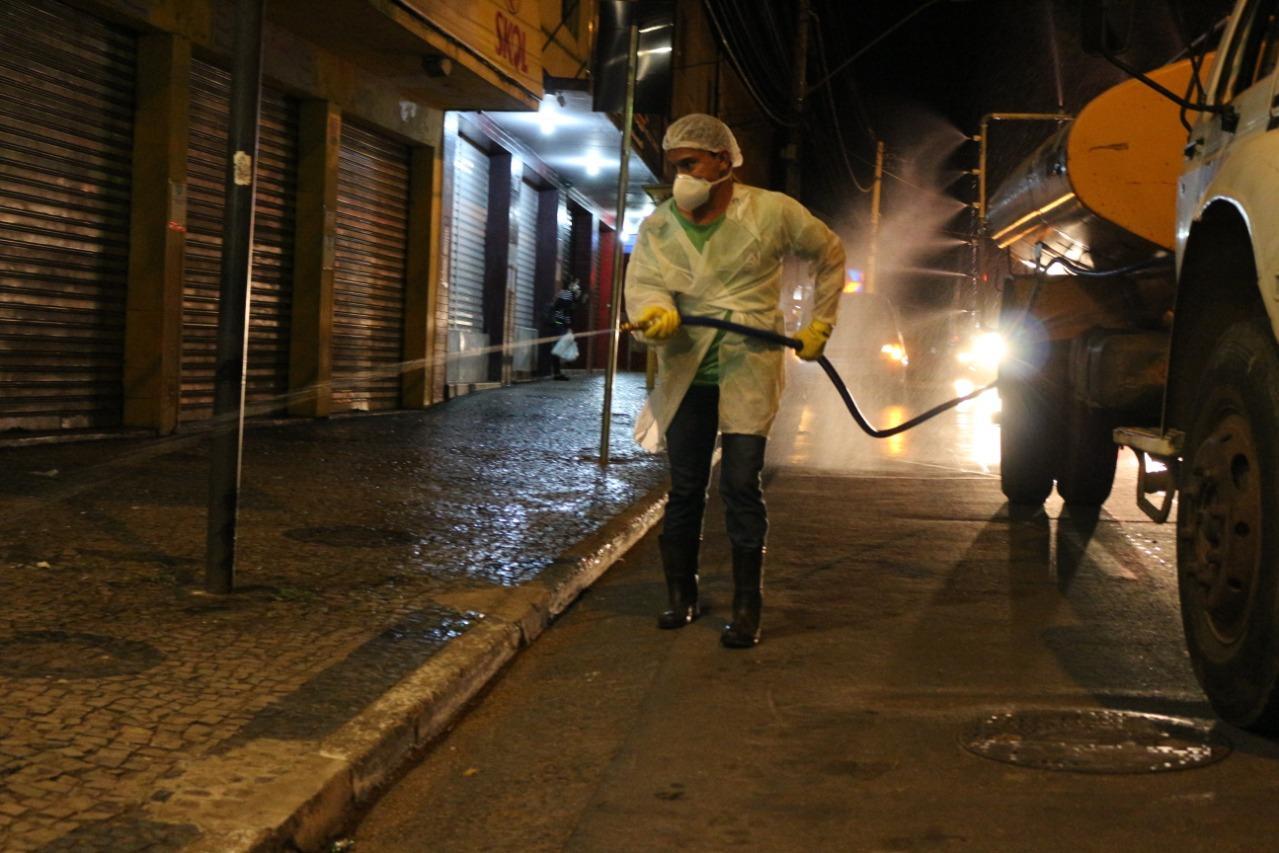 Prefeitura de Lagoa Santa reforça desinfecção de locais públicos da cidade
