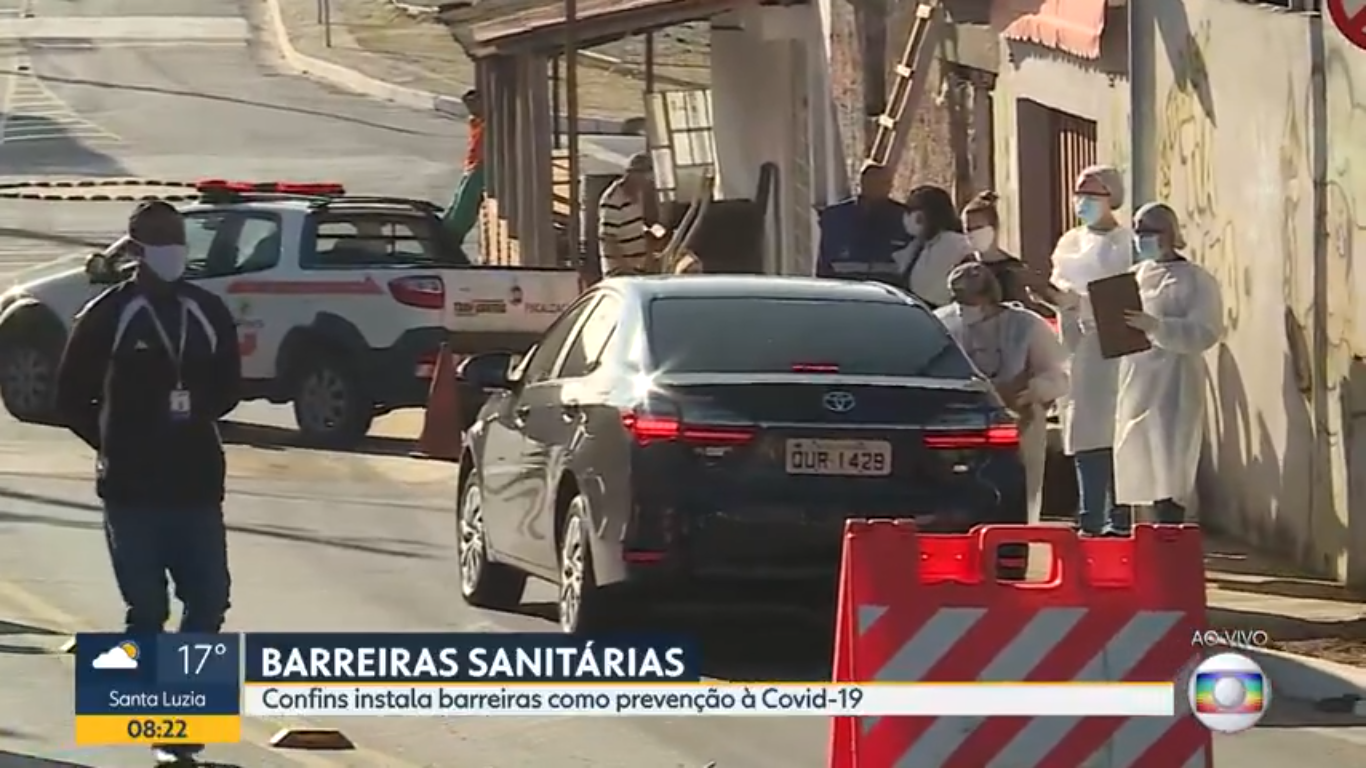 Confins: 1º dia de barreiras sanitárias tem ordem para multar descumprimento de decreto sobre Covid-19