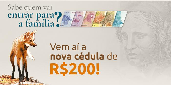 nova cédula de R$200