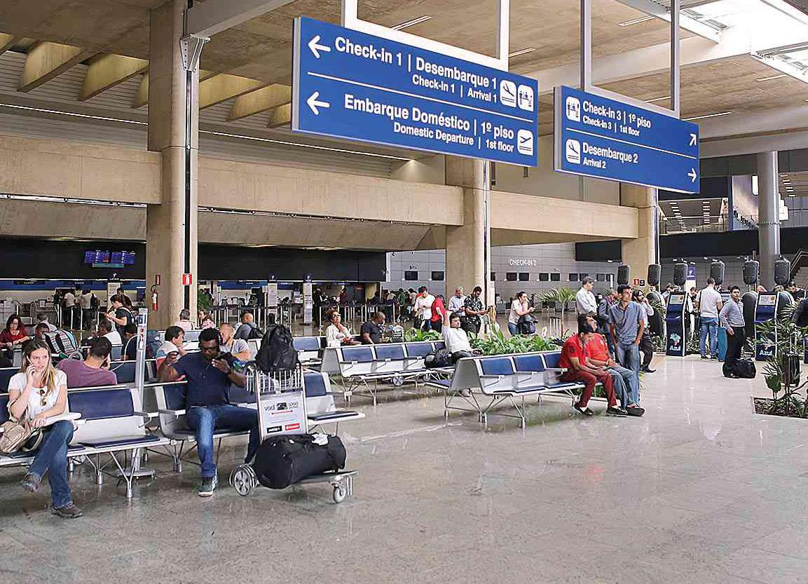 Mais de 400 mil passageiros devem passar pelo Aeroporto Internacional de BH em outubro