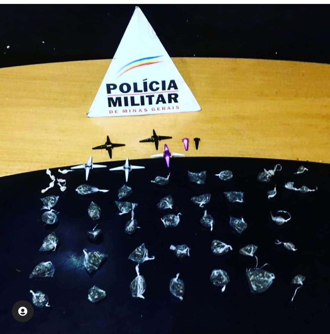 Policia Militar apreende drogas e suspeito de tráfico em Lagoa Santa
