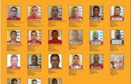 Veja quem são os 21 criminosos mais procurados de MG