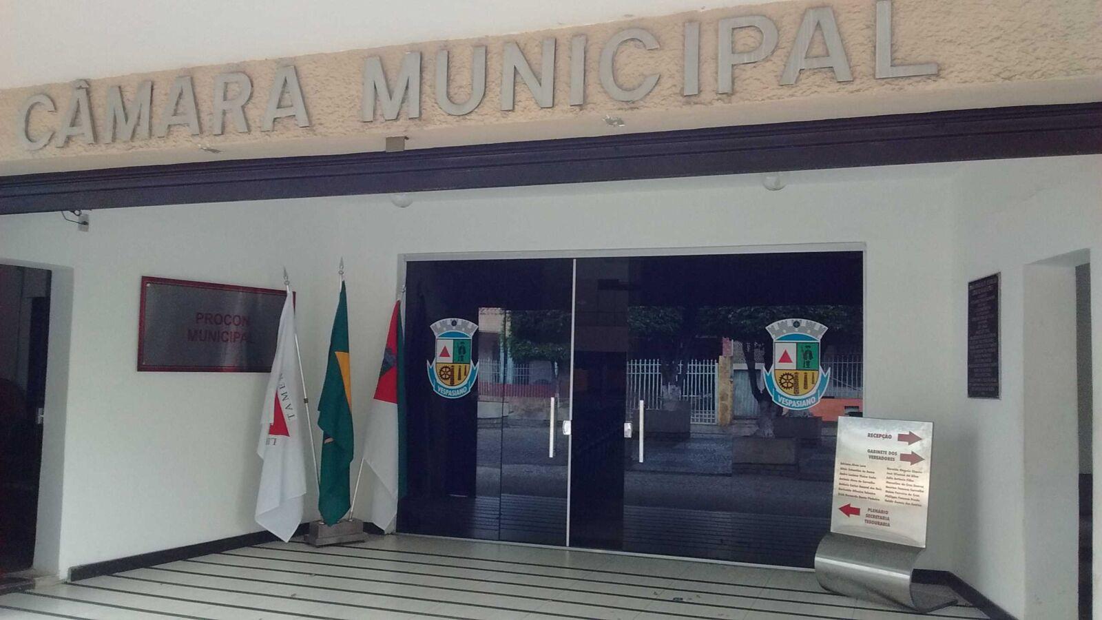 Câmara Municipal de Vespasiano fecha amanhã para higienização do prédio, após aumento de casos de Covid-19 no município