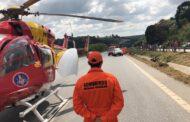 Animal na pista causa acidente grave na MG424 em Vespasiano