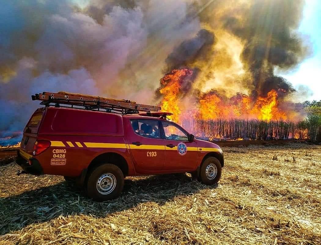 Bombeiros chamam a atenção para o aumento considerável de queimadas, principalmente, em Lagoa Santa