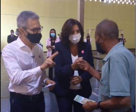 Prefeita Ilce Rocha recebeu Governador Zema em Vespasiano para ação de vacinação