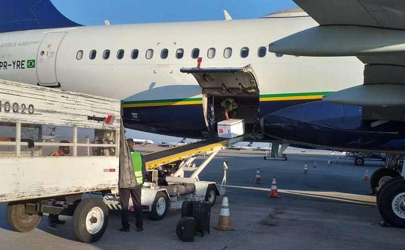 Novo lote de vacinas chega ao Aeroporto de Confins