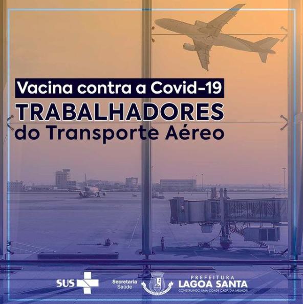 Prefeitura de Lagoa Santa anuncia vacinação para trabalhadores aeroportuários