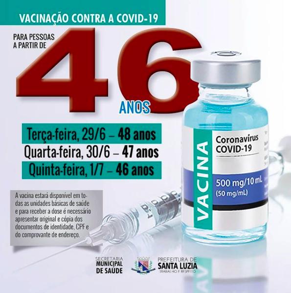 Prefeitura de Santa Luzia avança na vacinação