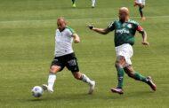 O América-MG perdeu para o Palmeiras-SP em jogo disputado em São Paulo