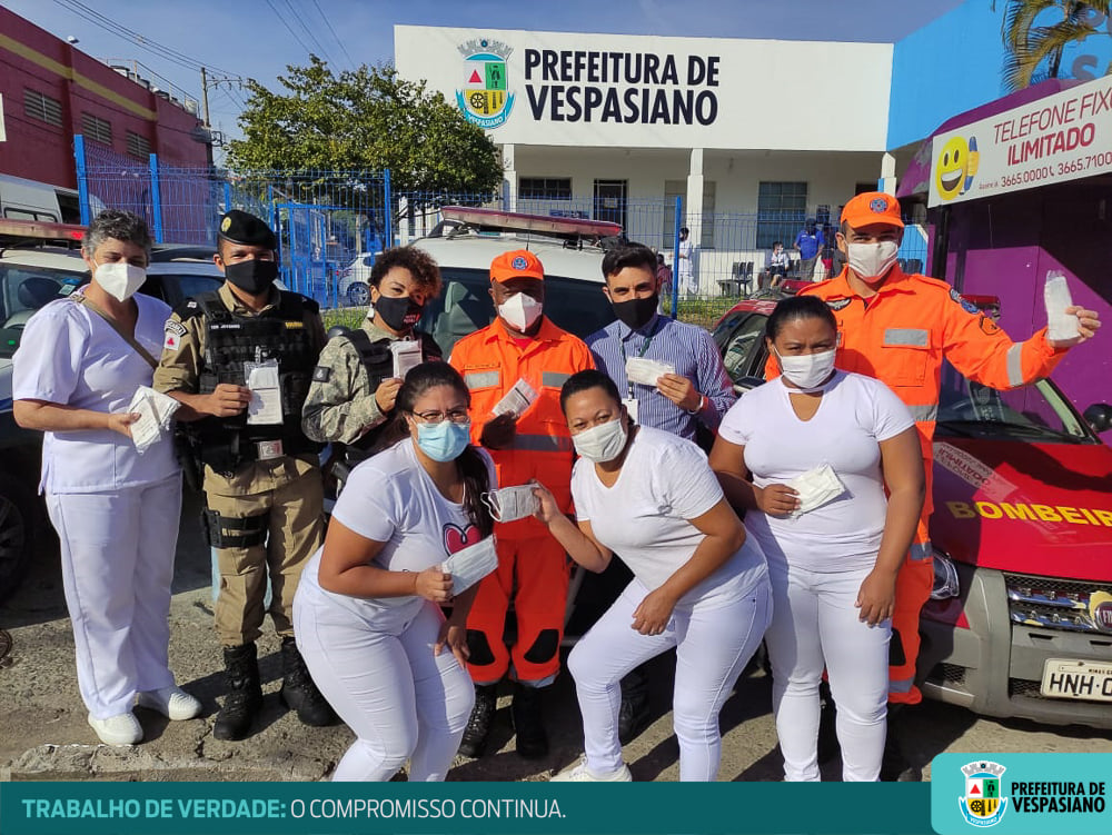 Prefeitura de Vespasiano segue com a ação educativa de conscientização e distribuição de máscaras