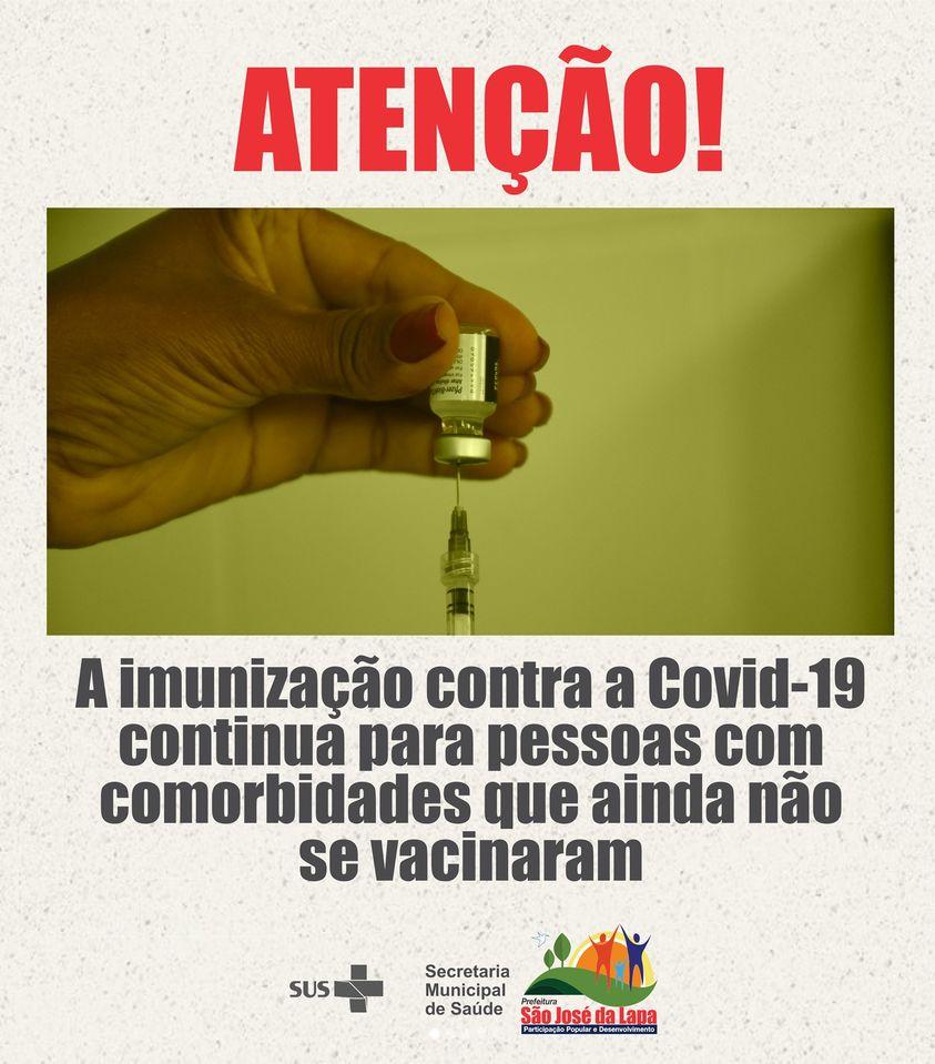 Prefeitura de São José da Lapa segue com a vacinação para pessoas com comorbidades