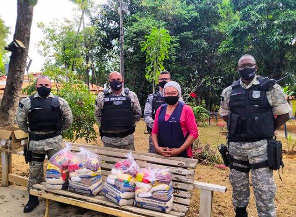 Polícia Penal de Lagoa Santa realiza doação de mantimentos