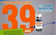 Vacinação em Santa Luzia atinge 39 anos