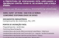 Vespasiano segue avançando na campanha de imunização