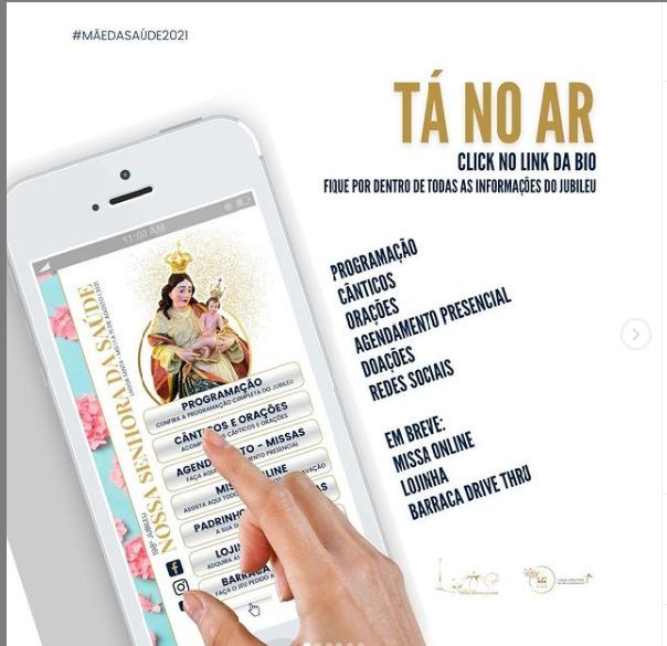 Igreja lança aplicativo para fiéis acompanharem as novidades do 198º Jubileu de Nossa Senhora da Saúde