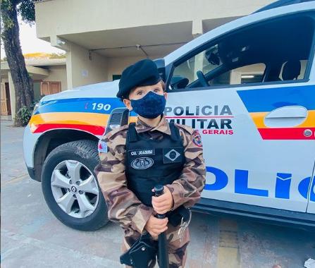 Policiais Militares foram inspiração para festa de aniversário em Lagoa Santa