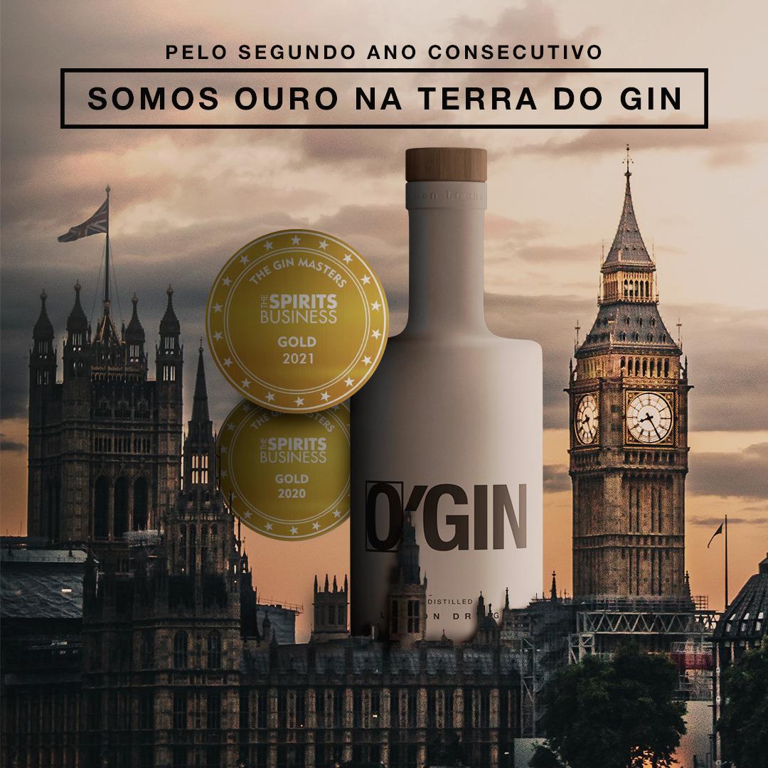 O'Gin recebe mais uma medalha de ouro em premiação internacional