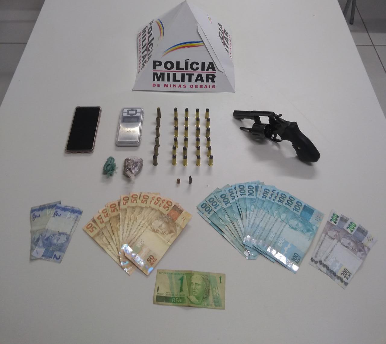 Polícia Militar faz apreensão de armas de fogo, drogas e munições em Confins