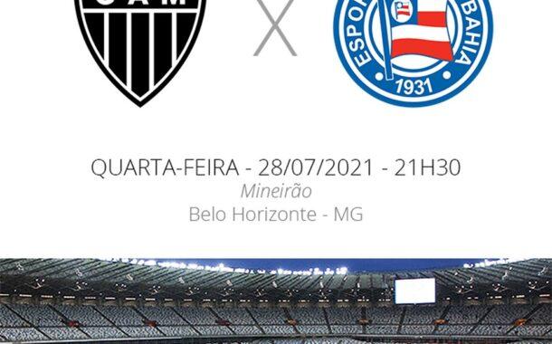 Atlético e Bahia se enfrentam hoje pela Copa do Brasil