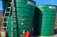 Prefeitura de Santana do Riacho realiza a substituição de caixa d'água no bairro Mirante