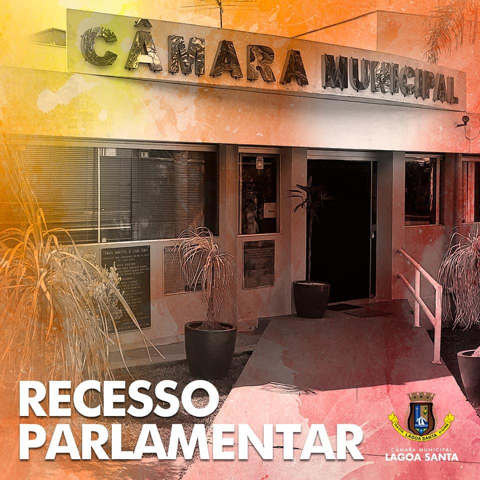 Câmara Municipal de Lagoa Santa entra em recesso por quinze dias