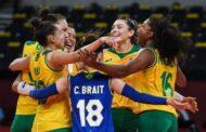 Seleção feminina de vôlei enfrenta logo mais a seleção japonesa, donas da casa