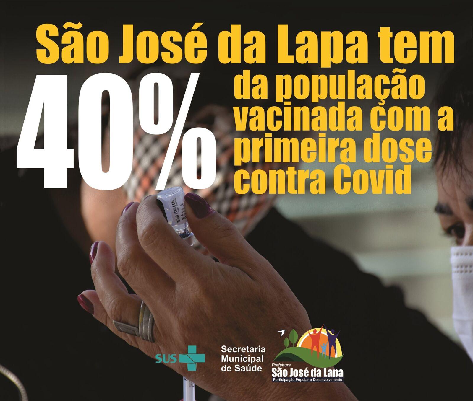 Prefeitura de São José da Lapa tem 40% da população vacinada com a primeira dose contra a Covid-19