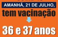Com ritmo acelerado na vacinação, São José da Lapa aplica doses em pessoas de 36 e 37 anos