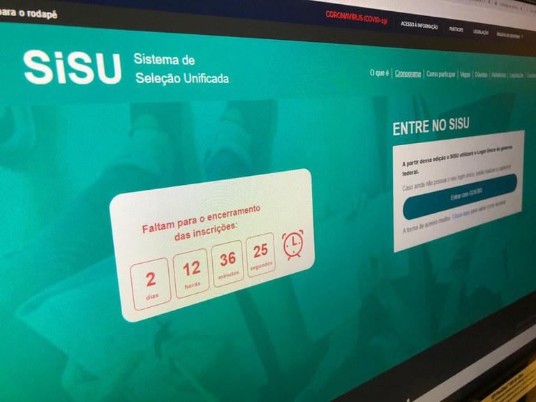 Estudantes podem se inscrever no SISU até a próxima sexta, 6