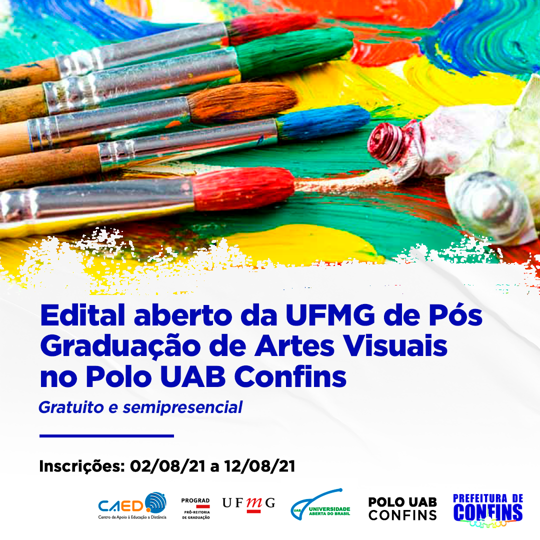 UFMG realiza seleção para Pós-Graduação EAD em Ensino de Artes Visuais