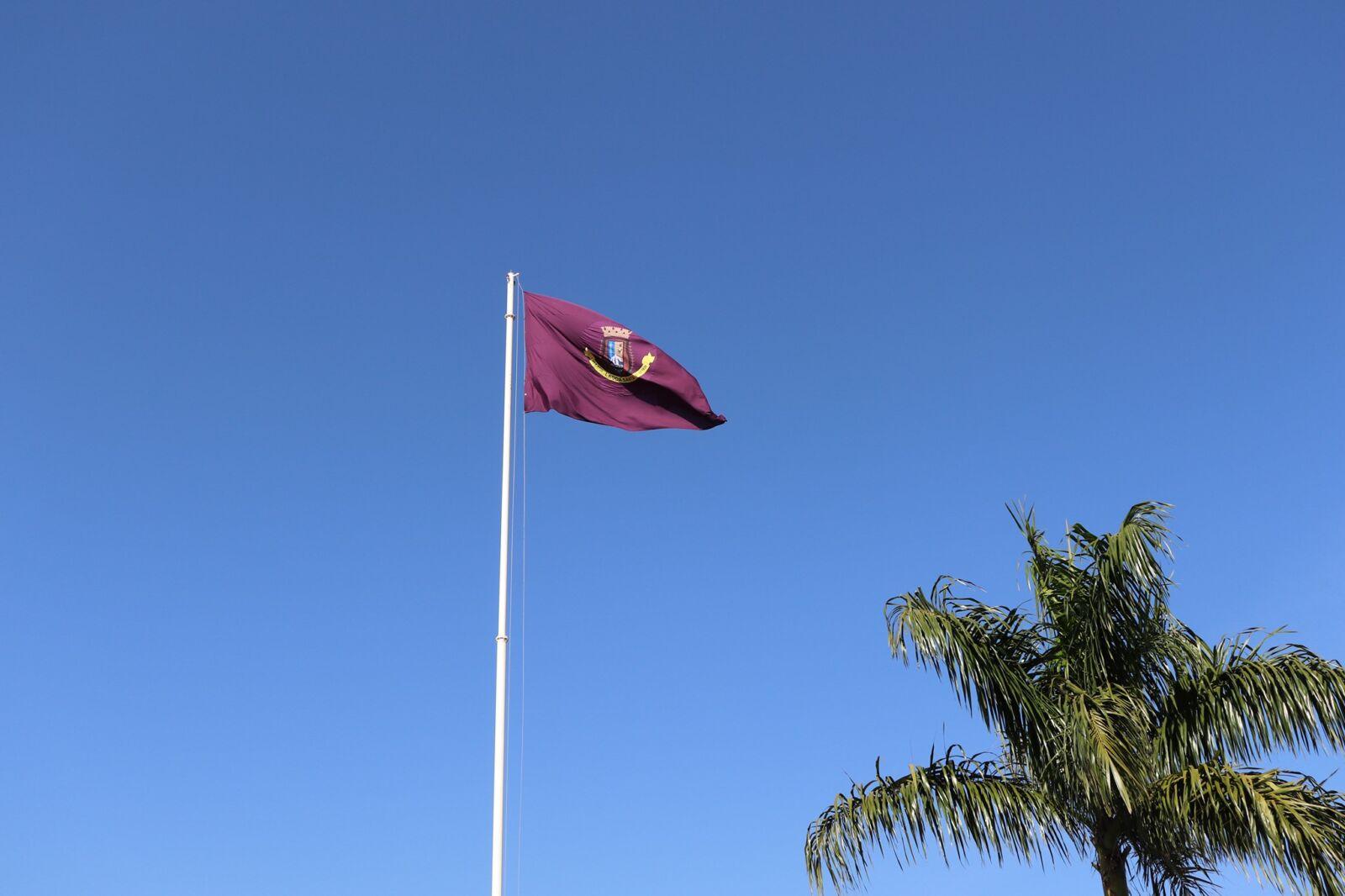 Prefeitura de Lagoa Santa hasteia bandeira da cidade na cor lilás para lembrar campanha Agosto Lilás