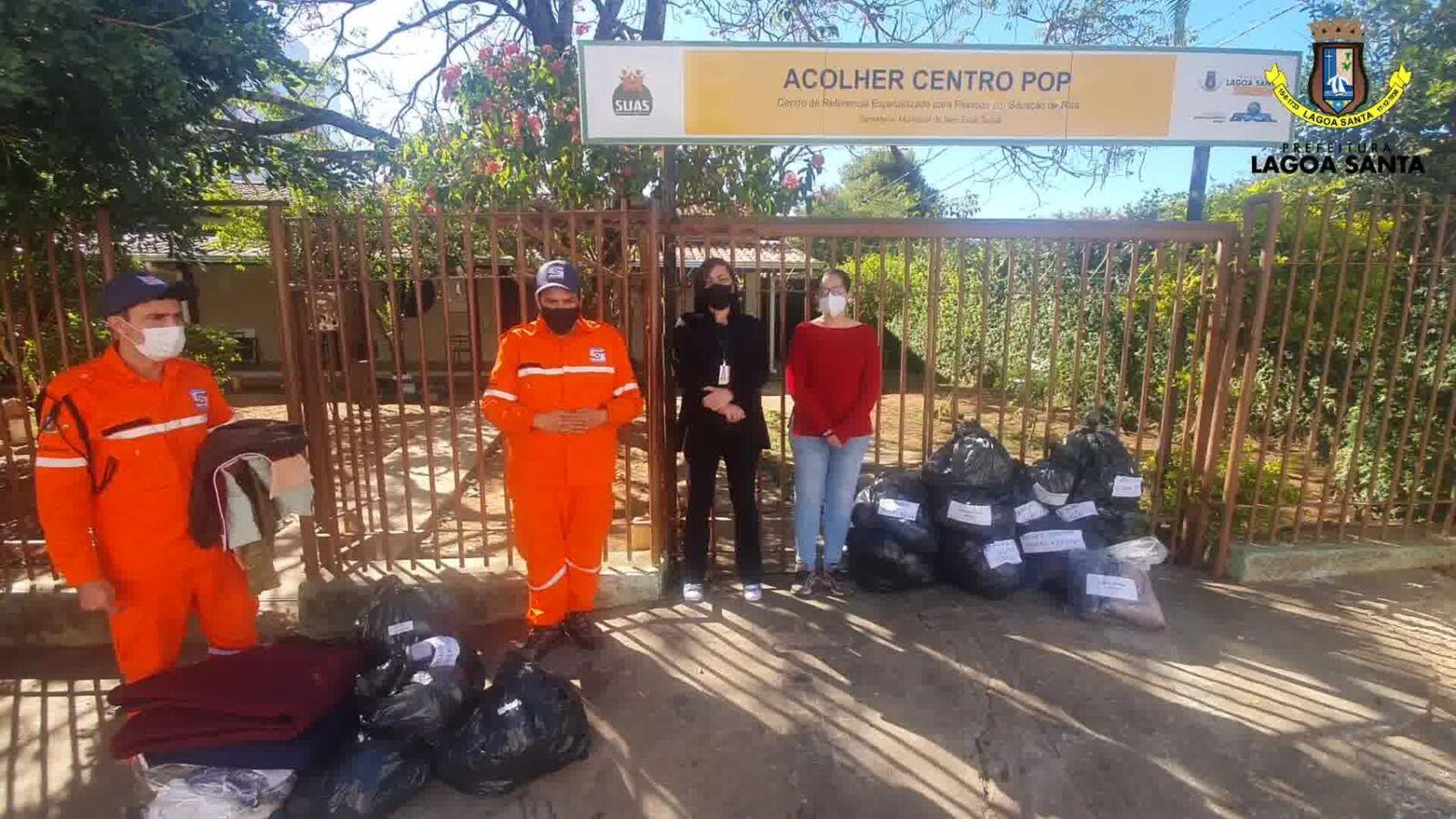 Defesa Civil agradece as doações recebidas durante a Campanha do Agasalho em Lagoa Santa