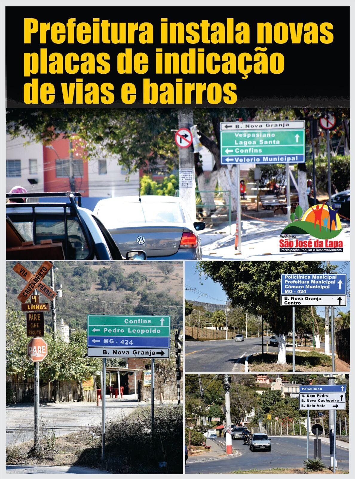 São José da Lapa recebe novas placas indicativas de trânsito